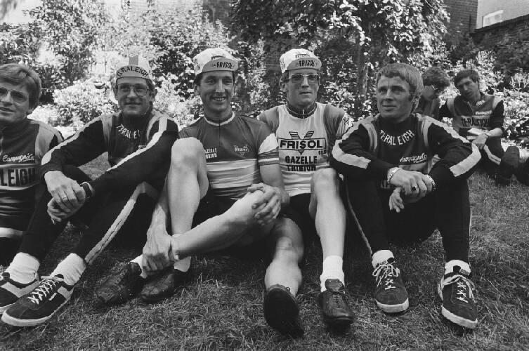 Presentatie Nederlandse wielerploegen Raleigh en Frisol, deelnemend aan de Tour …